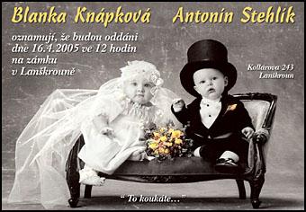 Inspirace - http://www.volny.cz/svatebni.oznameni