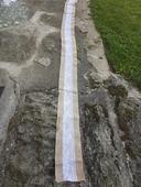 Jutové běhouny s krajkou 240cm (7ks),
