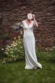 Krajkové svatební šaty vel.36, 36