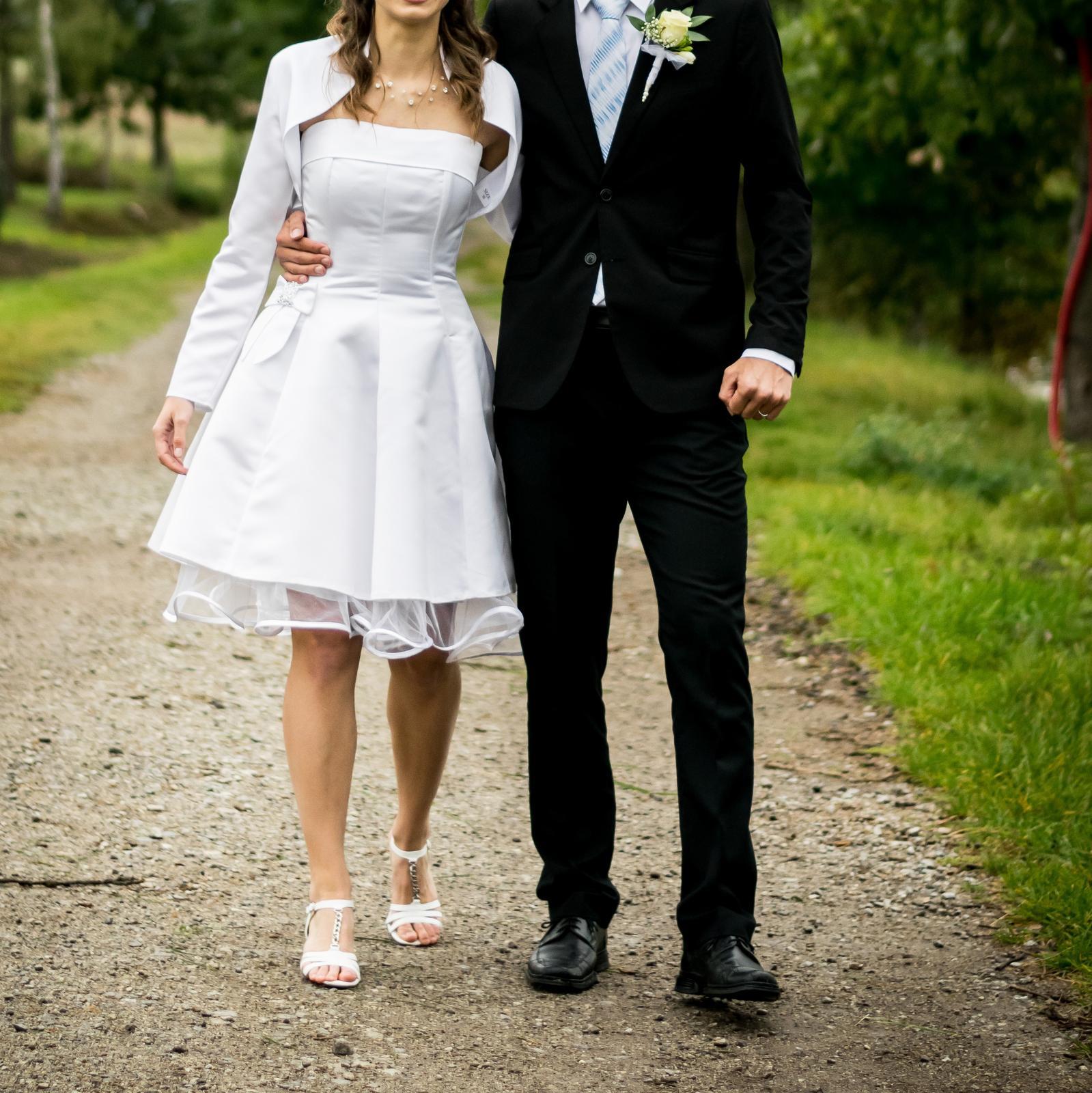 Svatební šaty retro krátké - Obrázek č. 2