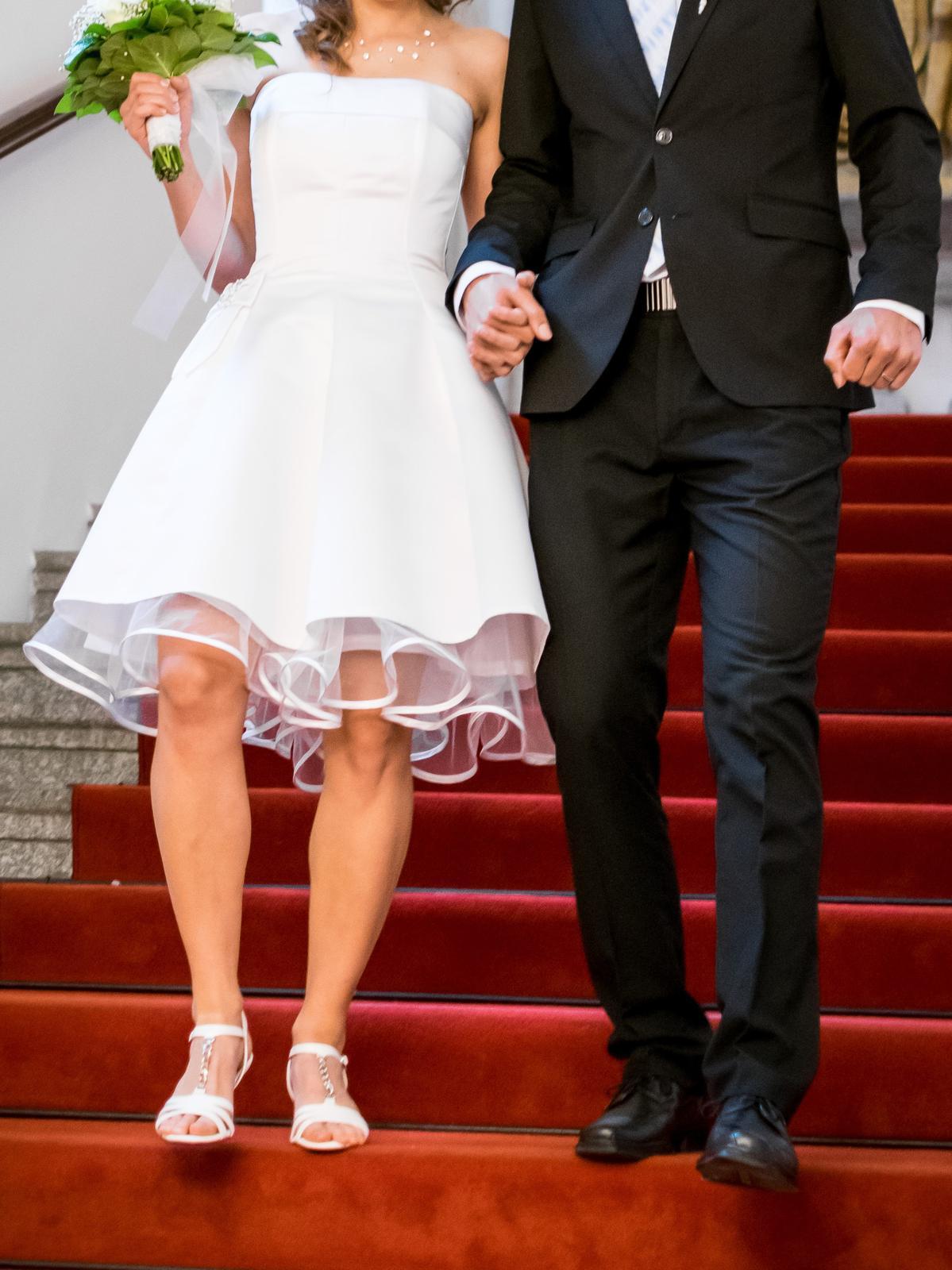 Svatební šaty retro krátké - Obrázek č. 4