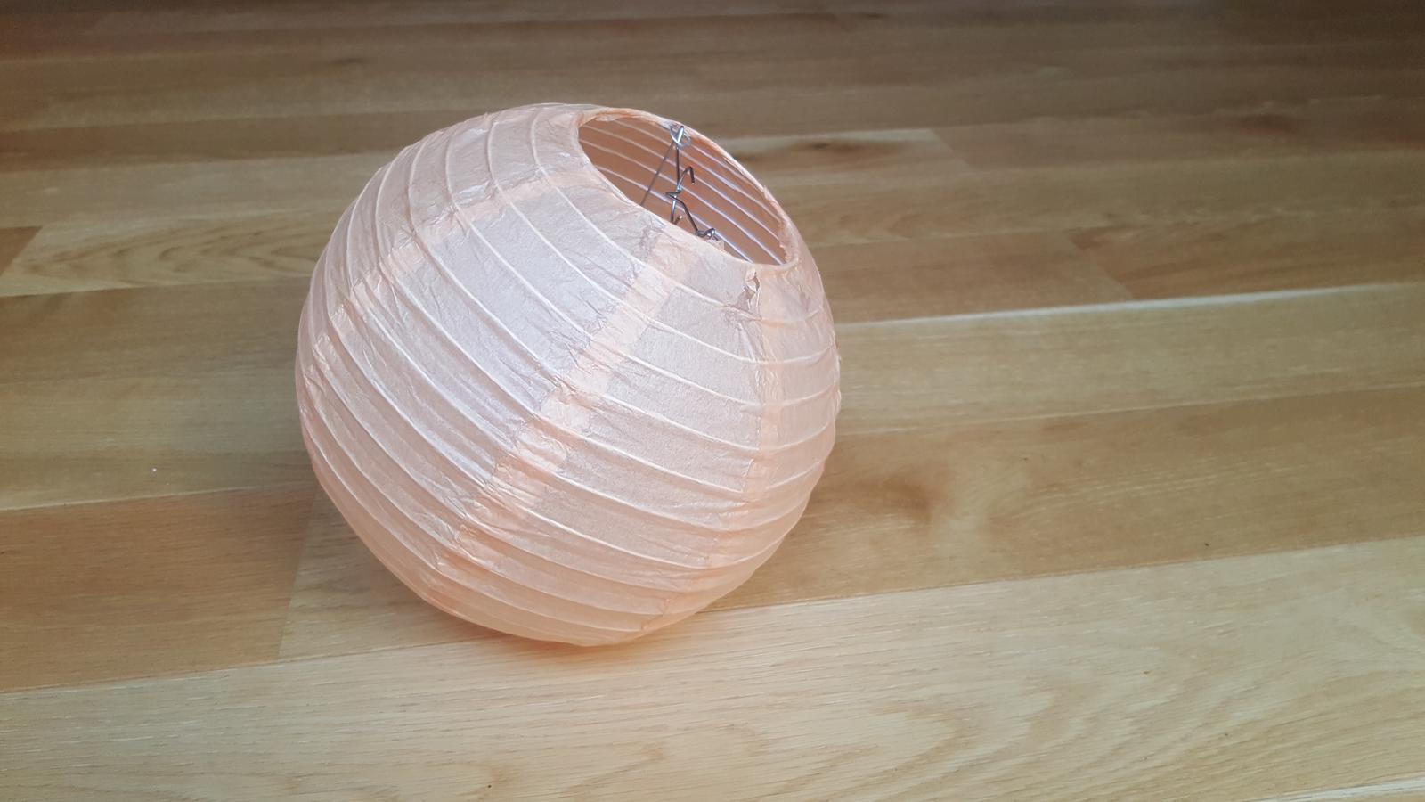 Lampion 25cm, krémový/lososový - Obrázek č. 3