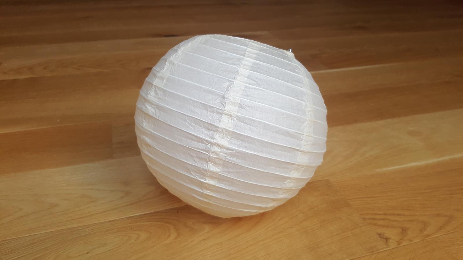 Lampion 25cm, krémový/lososový - Obrázek č. 2