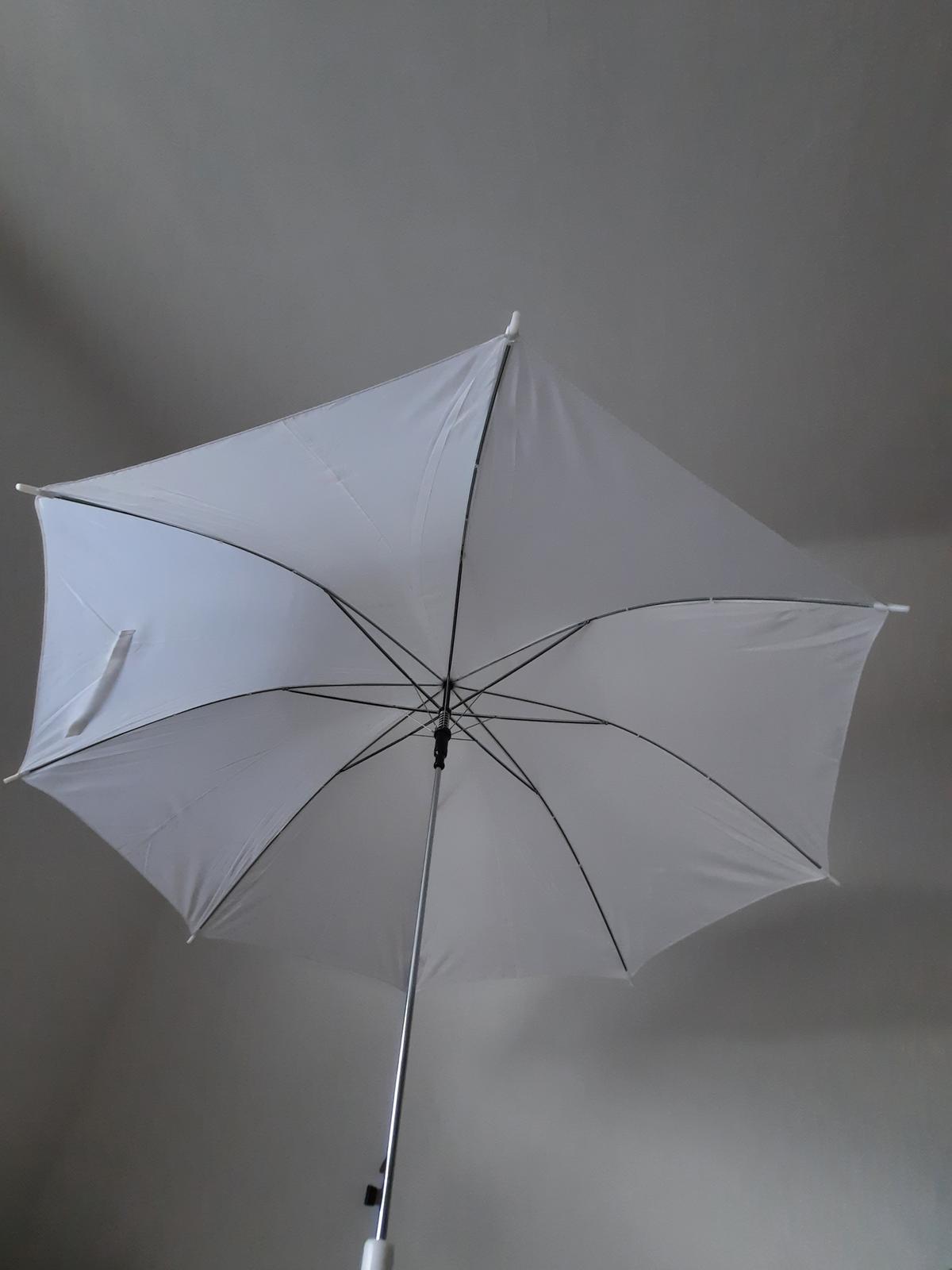 Bílé deštníky 2 ks - Obrázek č. 2