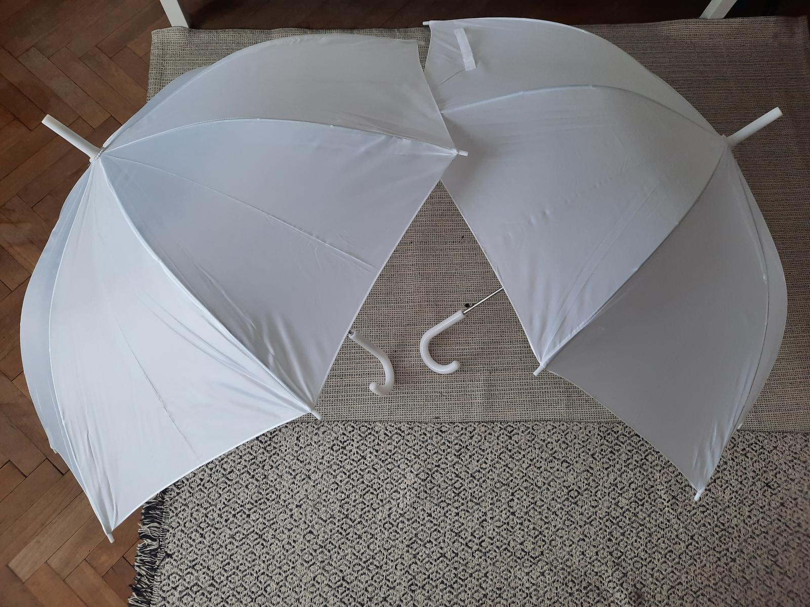 Bílé deštníky 2 ks - Obrázek č. 3