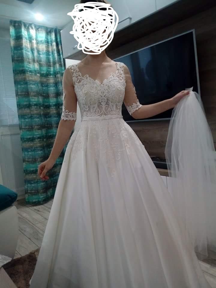 Svadobné šaty vo farbe IVORY - Obrázok č. 1