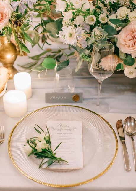Klubový tanier so zlatým lemom (prenájom) - Obrázok č. 1