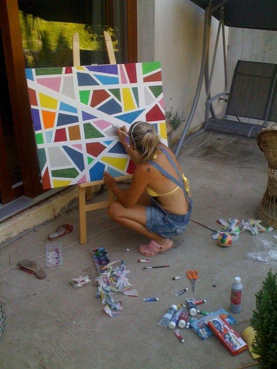 Pokračování našeho stavebního úsilí :)) - pracuju na dalším dílku..:-)