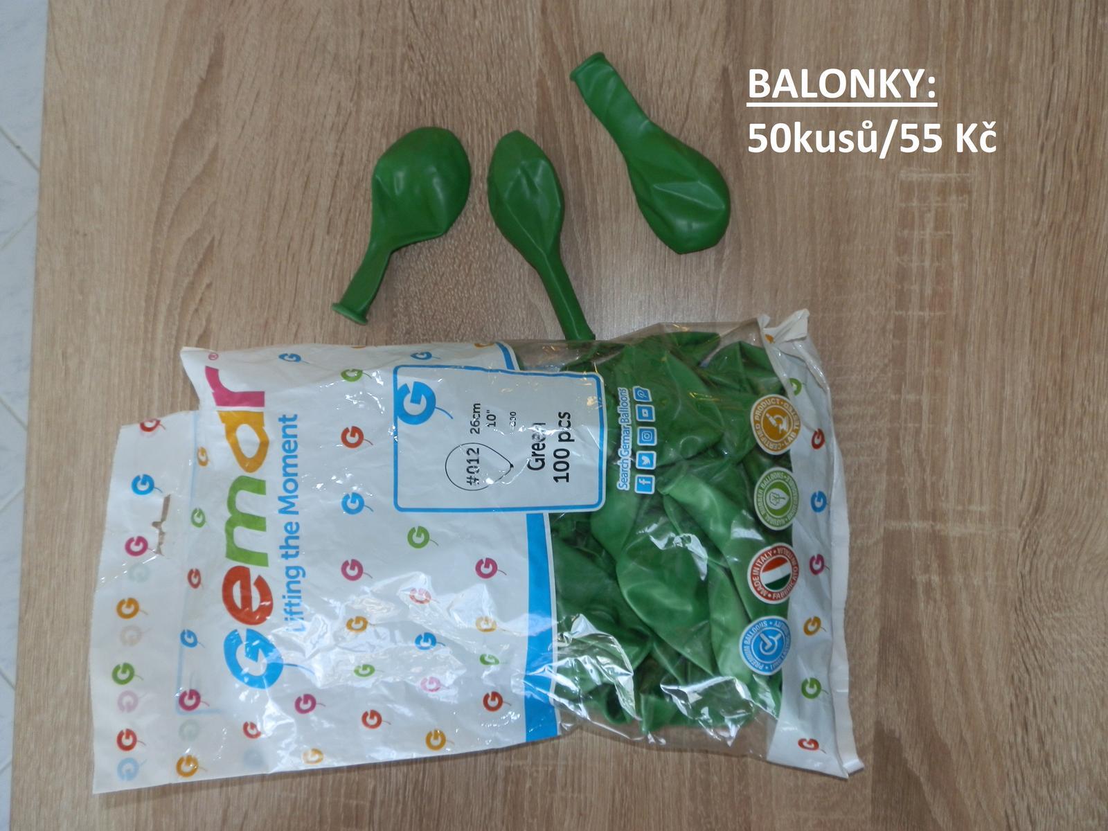 Zelené nafukovací balonky - Obrázek č. 1