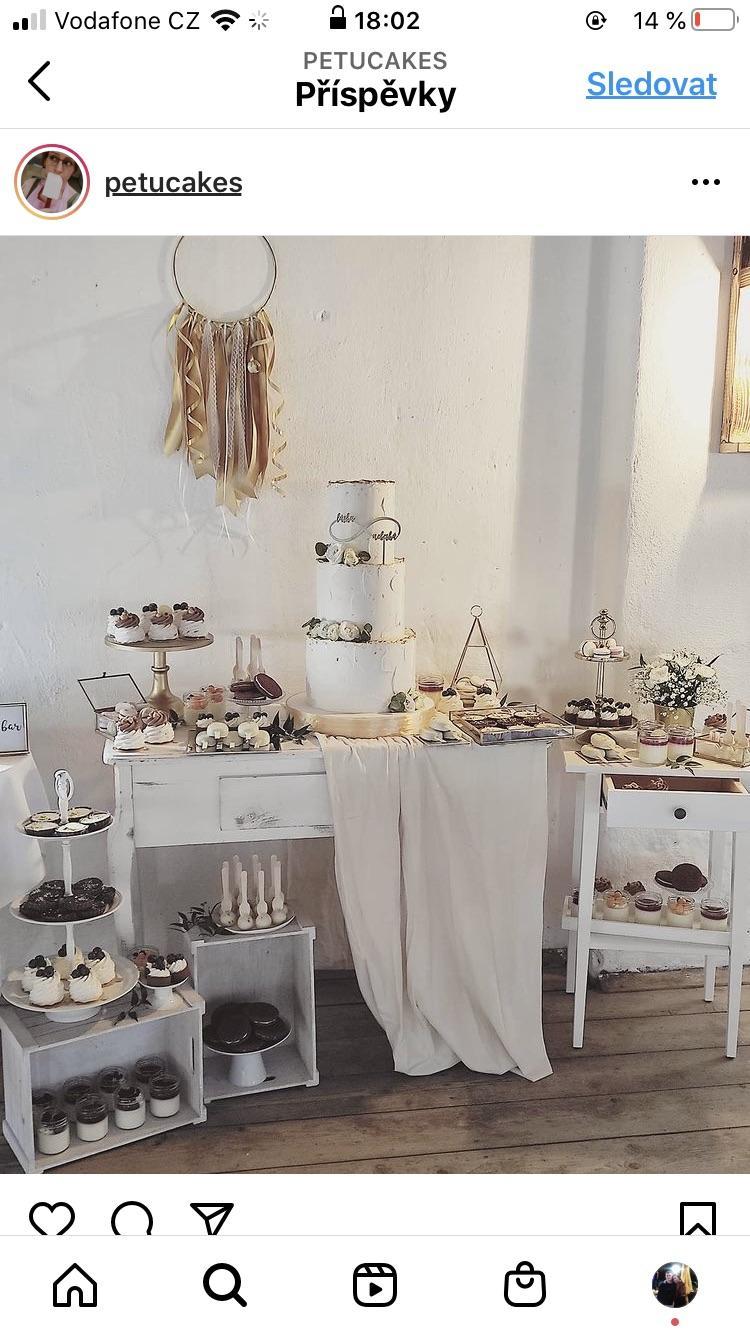 Inspirace - sweet bar od Petucakes, nádherné dortíky i výzdoba :)