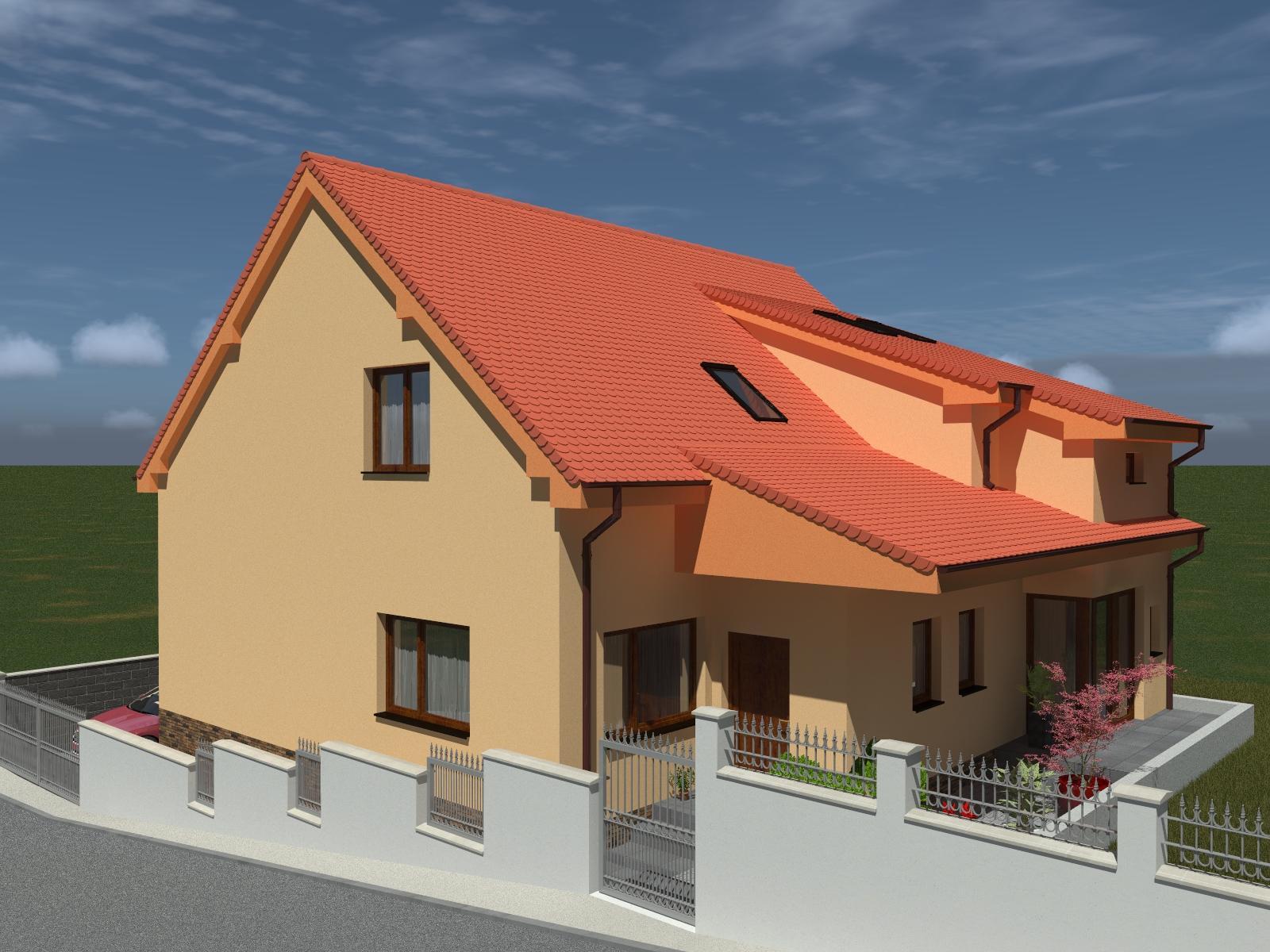 Prestavba podkrovia zo sedlovo valbovej na sedlovú strechu. - Obrázok č. 10