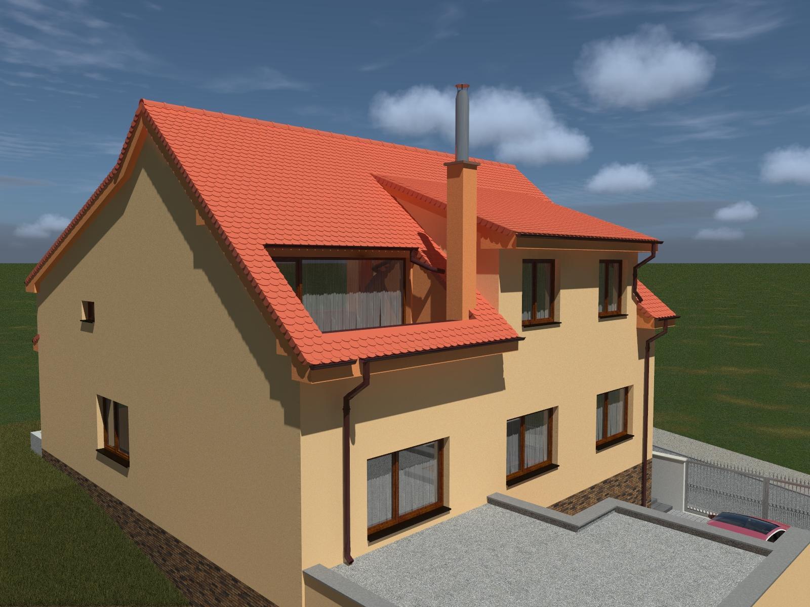 Prestavba podkrovia zo sedlovo valbovej na sedlovú strechu. - Obrázok č. 11