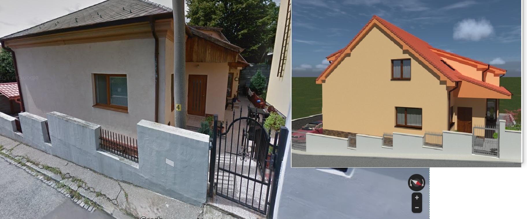 Prestavba podkrovia zo sedlovo valbovej na sedlovú strechu. - Obrázok č. 13