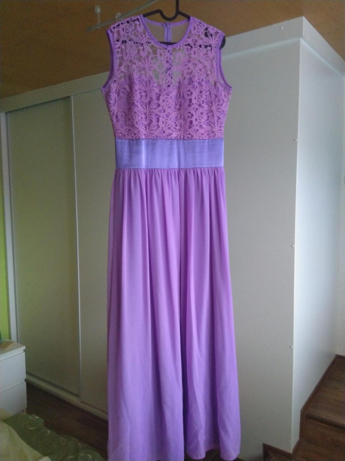 dlouhé fialové společenské šaty - Obrázek č. 1