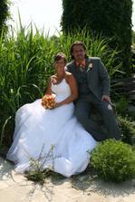Naše první fotka jako novomanželé!!!