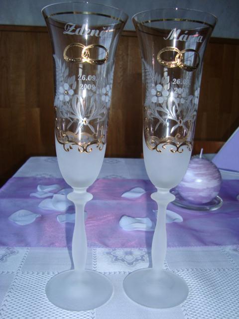 Konteska a Mucko - svadobné poháre