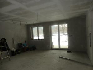 naša obývačka - pohľad von do dvora