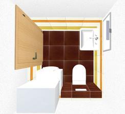 technicke wc, hore bude bojler pre kuchyňu, pod ním práčka