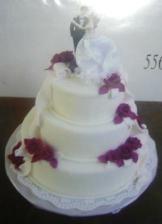 Nasa torticka - len s fialkovymi kvietkami