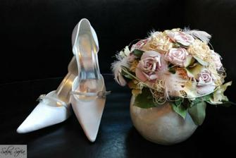 Tak tyto botičky budu mít ve svatební den - už jsou doma.