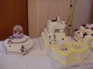 úžasné svadobné tortičky