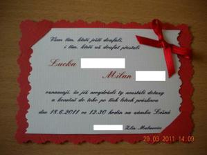 Konečná verze oznámka, vlastní ruční práce :-)