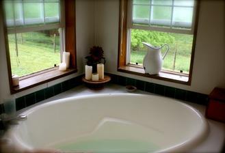 Úžasná vana a ten výhled....já chci takýýý:-(