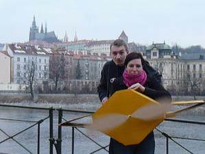 Foto z natáčení videa k oznámení- Já a skoromanžel ;-)
