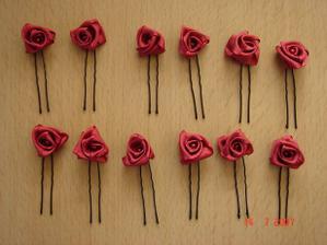 Růžičky s perličkou do vlasů