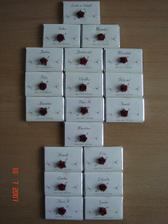 Jmenovky - čokoládky