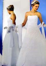 moje šaty len ja budem mať prirodne biele
