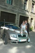 ... s naším (teda tatínkovým) autem