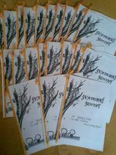 Všech 21 výtisků svatebních novin :o)