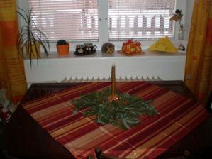 vánoční výzdoba v kuchyni