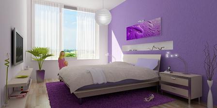 spálňa určite fialová :-)