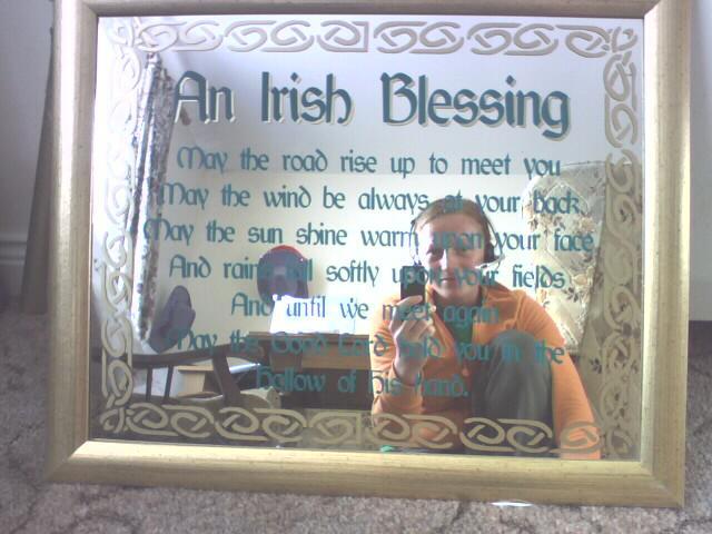 Darinka a Minko - zrkadlo z irskym prianim