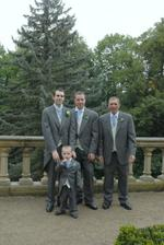 Groom with father, brother and nephew
