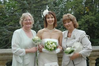 Bride with both mothers