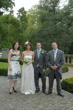 With the Best Man and Maid of Honour
