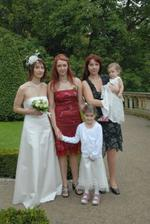 Bride with her sisters and nieces