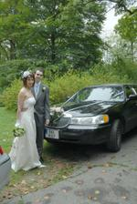 With groom's limo