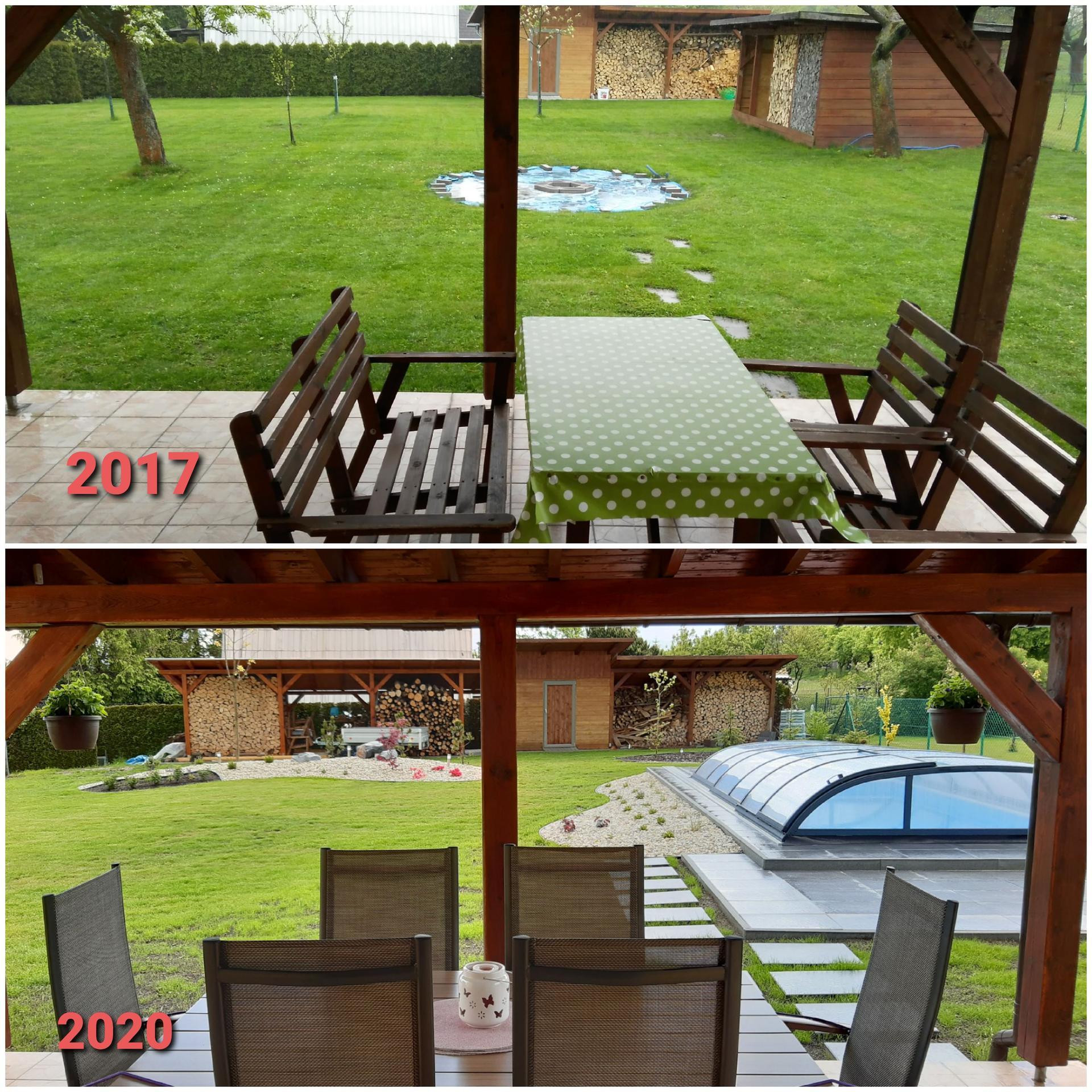 Zahrada 2020 - Jedna srovnávací.