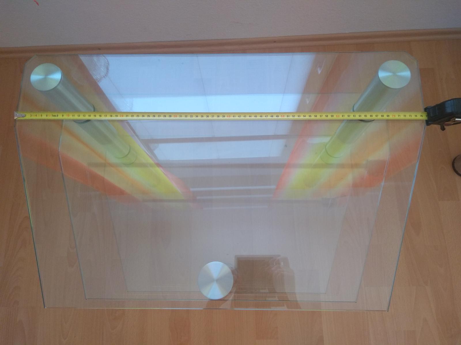 sklenený stolík pod TV - Obrázok č. 2
