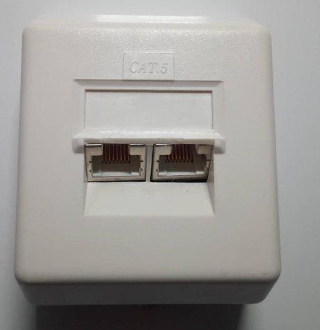 Datacom Dátová zásuvka UTP CAT5 na omietku - Obrázok č. 1