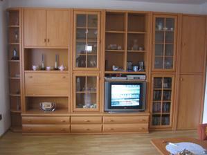 stěna v obývacím pokoji