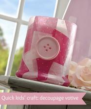 postup: http://modpodgerocksblog.com/2013/03/quick-kids-craft-button-votive.html