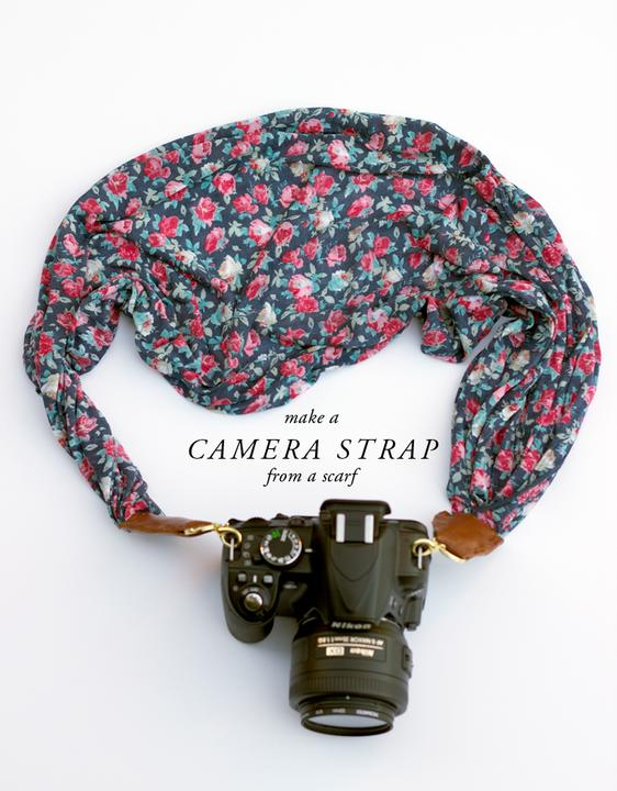 DIY and Be chic ♛ - DIY: http://www.lauraashleyusa.com/make-and-do-camera-strap-from-a-laura-ashley-scarf