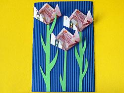 S♡adobný € =Darčekovník - DIY: http://www.basteln-gestalten.de/geld-blumen