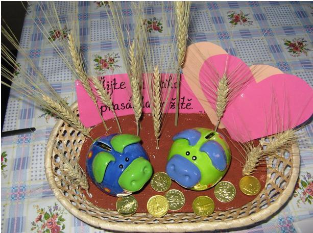 S♡adobný € =Darčekovník - žite si ako prasce v žite