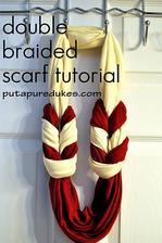 DIY: http://www.putapuredukes.com/2011/11/double-braided-scarf-tutorial.html